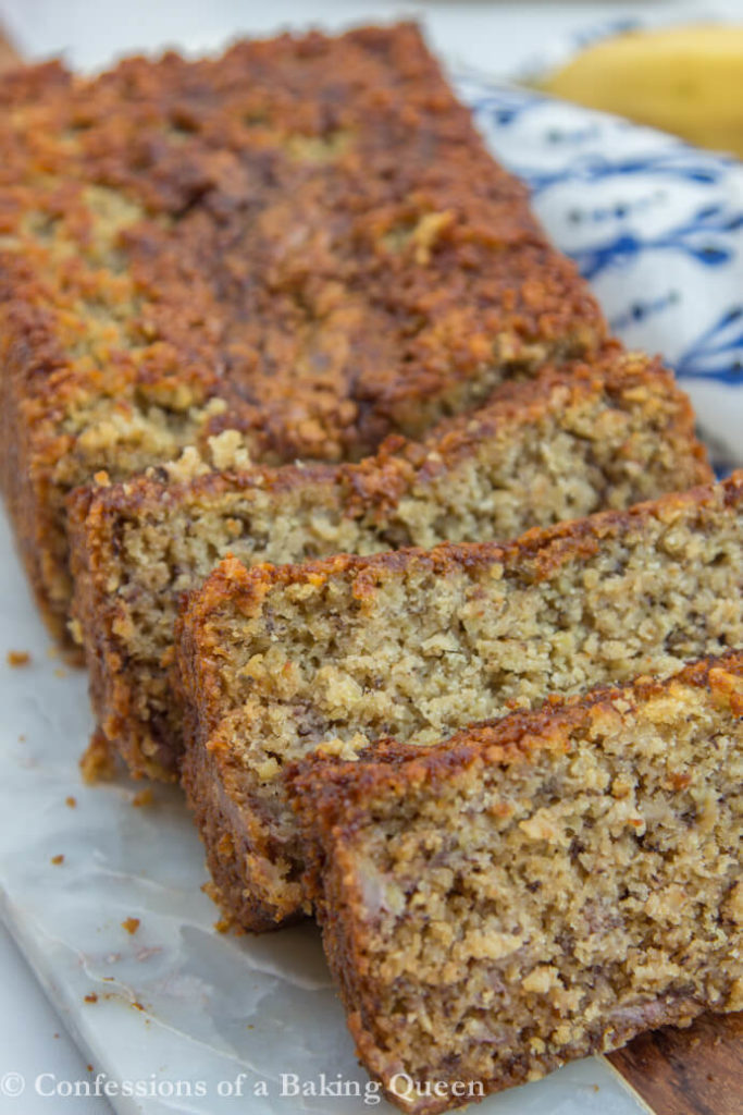 Oat flour banana bread confessions of a baking queen oat flour banana bread sliced forumfinder Images