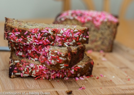 Toffee Sprinkle Banana Bread www.confessionsofabakingqueen.com