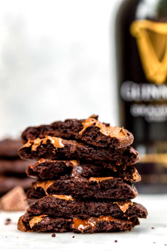 guinness cookies stacked