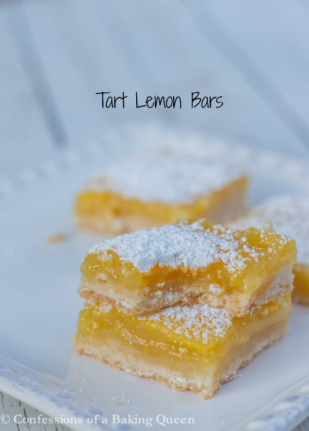 Tart Lemon Bars www.confessionsofabakingqueen.com