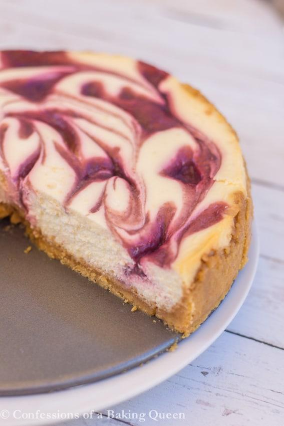 Raspberry Swirl Lemon Cheesecake Confessions Of A Baking