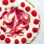 Raspberry Swirl Lemon Cheesecake