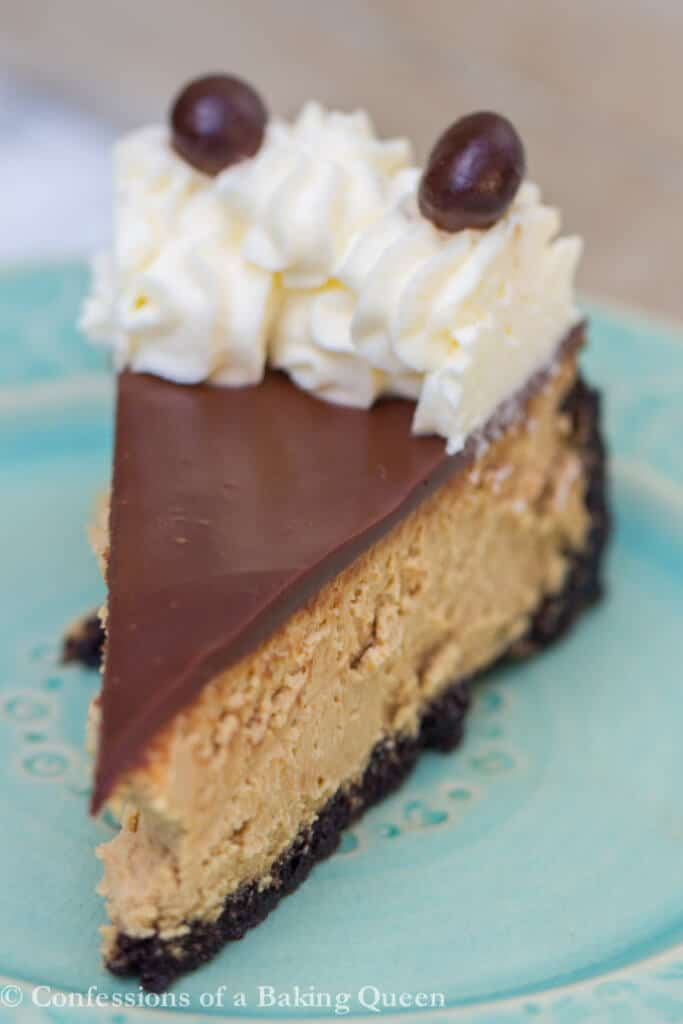 Coffee Cheesecake www.confessionsofabakingqueen.com