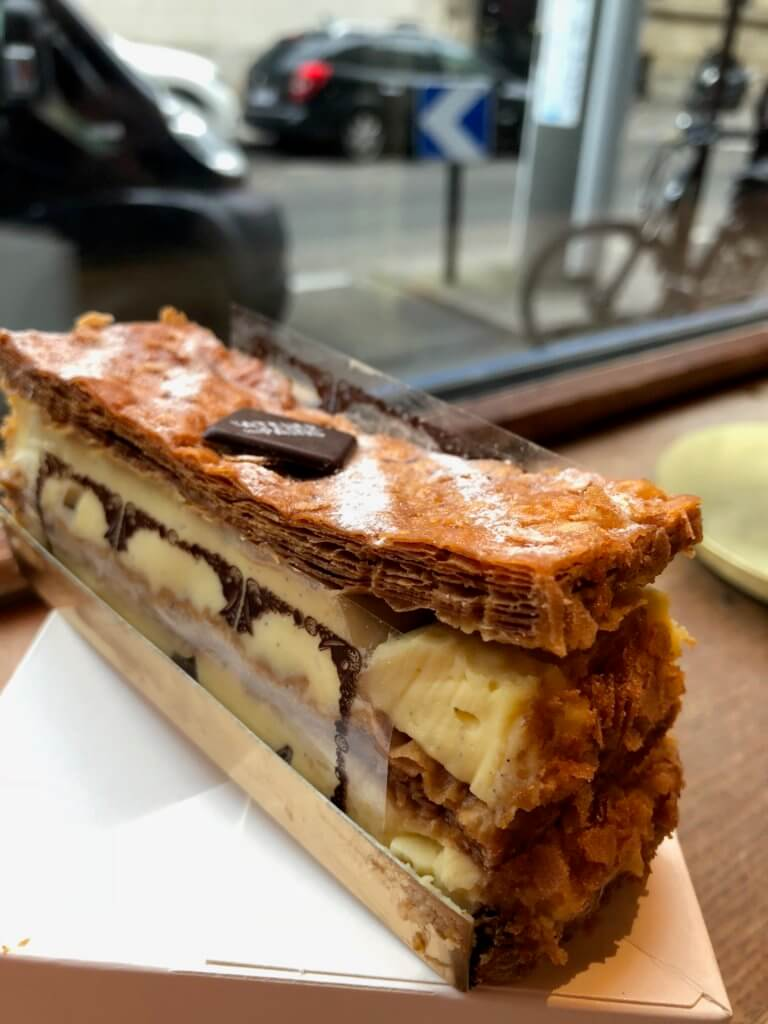 Napolean or Mille-feuille on a window sill