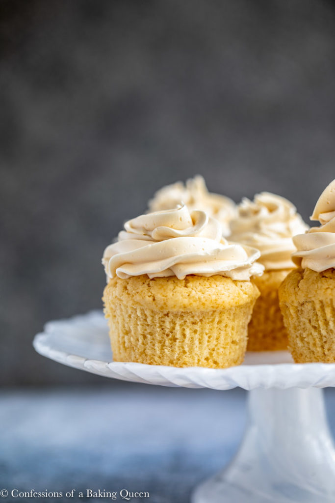 baileys cupcakes on a white plate