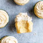 baileys cupcakes on a grey background